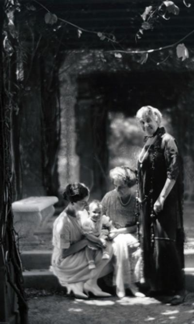 aq_block_1-Portrait of Family in Garden, San Francisco, California, c. 1920's