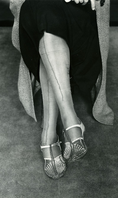aq_block_1-Mended Stockings, San Francisco, California, c. 1930's